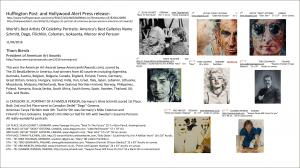 Huffington Post And Hollywood Alert Press Release On American Art Awards 2016 Winning Works In Category PORTRAIT OF A FAMOUS PERSON
